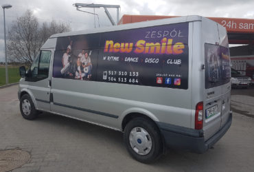 oklejenie reklamowe Ford Transit - New Smile
