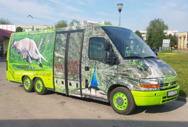 oklejenie reklamowe Renault - Mini Zoo