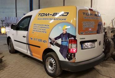 oklejenie reklamowe VW Caddy - Tombud